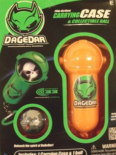 DAGEDAR Flip Action Carrying Case & Collectible Ball - Orange