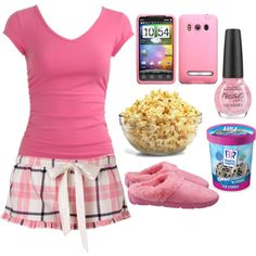 """Sleepover"" by thelucky on Polyvore"