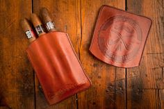 Leather Cigar Case by StacheWarden for BourbonandBoots.com