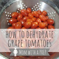 Have you ever purchased those pint containers of grape tomatoes, and then forgot about them? They get a slimy and then fuzzy, and then you throw them away.  Well, let's talk about the quickest way to preserve them! Dehydration!!