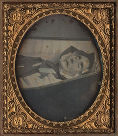This a post mortem photograph of a nun in her coffin.