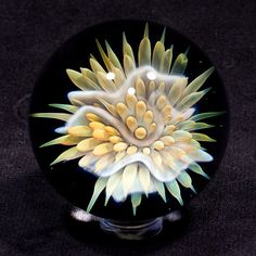 1.99 inch fumed implosion Nudibranch 1 by BlueGooseStudios on Etsy, $85.00