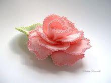 pink beaded rose pin