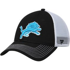 Detroit Lions NFL Pro Line by Fanatics Branded Core Trucker II Adjustable  Snapback Hat - Black d0e107a16