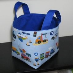 How to Make a Fabric Basket... A fabric basket is a great place to store all those little bits and pieces that boys collect. This tutorial will show you how to easily make one