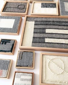 Hand woven weavings/wall hangings from Icelandic and Navajo wool.✨-Take 20 off all weavings today - Sunday ⚡️ Weaving Textiles, Weaving Art, Weaving Patterns, Loom Weaving, Tapestry Weaving, Stitch Patterns, Knitting Patterns, Framed Fabric, Fabric Wall Art