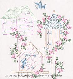 Free Hand Embroidery Transfers   embroidery kits jack dempsey needle art embroidery kits bird houses