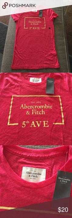 Abercrombie & Fitch Hot Pink T Shirt Sz Small Abercrombie & Fitch Hot Pink T Shirt Sz Small Abercrombie & Fitch Tops Tees - Short Sleeve