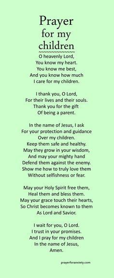 prayer for health Prayer for Anxiety Prayer For Our Children, Prayers For My Daughter, Prayer For My Family, Mom Prayers, Everyday Prayers, Prayers For Healing, Bible Prayers, Catholic Prayers, All Family