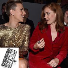 #AmyAdams wearing the #MelissaKayeJewelry Anna Claire #ring in #18k black #gold #jewelry #finejewelry #celebs #style #celebstyle #fashion #redcarpet