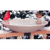 "Found it at Wayfair - Allied Precision Industries 20"" Heated Deck Rail Bird Bath with Quick Release"