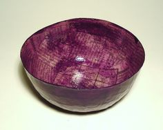 Purple Papier Mache Bowl