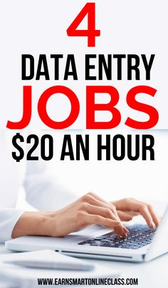 Looking for data entry jobs for beginners and even pros? Here is a list of the best data entry jobs from home for everyone. You can set your own schedule and work whenever you want. Typing jobs are the easiest to start and can help you earn money quickly. #dataentryjobs #workathomejobs #sidehustles #makemoney #careersfromhome #workfromhome Work From Home Jobs, Make Money From Home, Way To Make Money, Make Money Online, How To Make, Typing Jobs, Data Entry, Earn Money, Affiliate Marketing