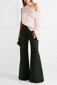 Monse | One-shoulder draped satin blouse | NET-A-PORTER.COM