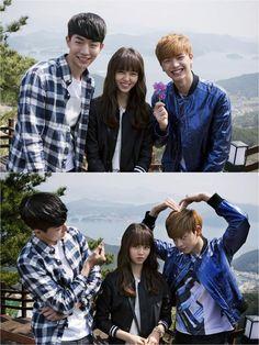 Who are you: School 2015 Nam Joo Hyuk, Kim So-hyun & Yook Sung-jae Drama Korea, Korean Actresses, Korean Actors, Lee Young Suk, Who Are You School 2015, Best Kdrama, Moorim School, Sungjae Btob, Kim Sohyun