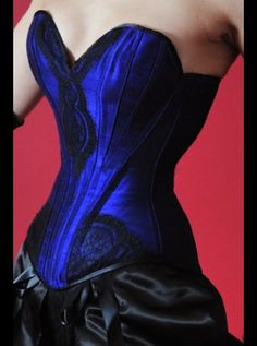 Velda Lauder Purple Silk Overbust Curve Corset. May she rest in peace.