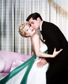 """Lana Turner and John Gavin, publicity portrait for the classic Ross Hunter/Douglas Sirk melodrama """"Imitation of Life"""", 1959. Description from pinterest.com. I searched for this on bing.com/images"""