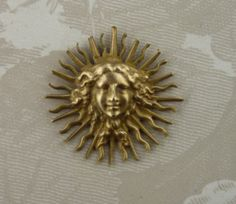Vintage Brass Stampings~Mystic Egyptian Goddess 1 PC Made In PARIS FRANCE
