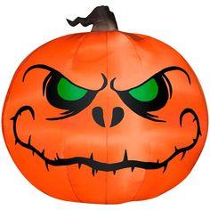 6 Ft Jack Skellington Pumpkin Inflatable Decorations - Nightmare Befor by Spirit Halloween Halloween Rocks, Halloween Scene, Halloween Haunted Houses, Outdoor Halloween, Spirit Halloween, Halloween Pumpkins, Halloween Crafts, Halloween Decorations, Halloween Christmas