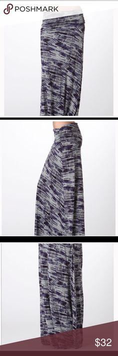 PLUS SIZE- Tie Dye Maxi Skirt Beautiful purple, black, and grey maxi plus skirt. Could be worn as either a Tub dress, bathing suit cover, or a skirt. 95% Rayon 5% Spandex. Bellino Clothing Skirts Maxi