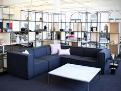There are plenty of spaces throughout the office for employees to sit and relax ...