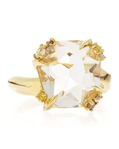 18k Gold Diamond-Prong Ice Quartz Ring by Alexis Bittar Fine at Neiman Marcus.