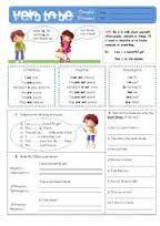 Risultati immagini per worksheet verb be