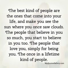 The best kind of people are