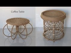Amazing Recycle Ideas Bucket Lids into Coffee Table   Jute Craft Ideas - YouTube Sisal, Jute Crafts, Design Crafts, Lana, Recycling, Bucket, Rope Knots, Craft Ideas, Coffee