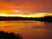 Upper Missouri River sunrise in Montana