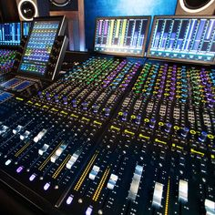 Avid redefines mixing once again with the all-new Avid control surface. Home Music Rooms, Music Studio Room, Digital Audio Workstation, Recording Studio Design, Gaming Room Setup, Studio Equipment, Container House Design, Tours, Voice Acting