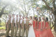 Great looking bridal party! love the summer vest idea for the men