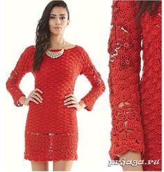 Manualidades y algo más: Vestido  en rojo