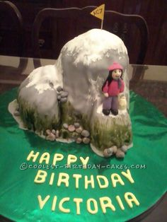 Coolest Mountain Birthday Cake... This website is the Pinterest of birthday cake ideas