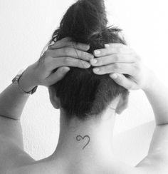 Heart tattoo I want behind the ear