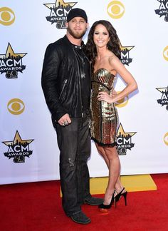 Brantley Gilbert & Amber Cochran at the 50th Academy Of Country Music Awards