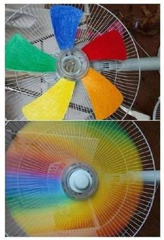✿´¯`*•.¸¸✿ SHARE with FRIENDS & FAMILY on TIMELINE ✿´¯`*•.¸¸✿  :) One the kids will love! :)  Add a little color to the room by painting or coloring the fan blades. To do this, remove the screen (usually requires a screwdriver) and add the colors of your choice to the blades. Acrylic paints work best for this, but you can also use something as simple as a magic marker. Paint them to match the room theme, or in a variety of colors as shown here to make a rainbow effect while in motion.  ☆ ADD…