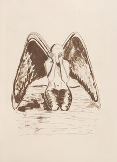 """Thou shall not harm angels"", lithography by Altea Leszczynska"