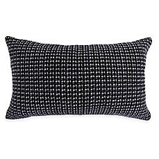 image of Kyra Tweedle Oblong Throw Pillow in Blue/Grey