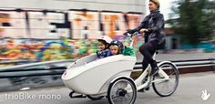 Ladcykel trioBike V2. Designed to transport children in extreme safety and convenience.