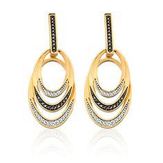 Brinco Ouro Amarelo e Diamante Gala#VIVARA/BRA JEWELLS