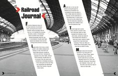 Editorial layouts by Hanh Le, via Behance