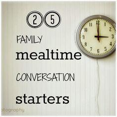 Harvest Lake Zurich MOPS: 25+ Family Mealtime Conversation Starters