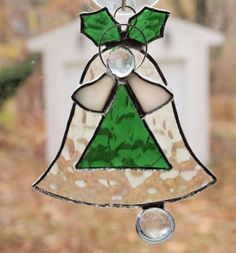 Stained Glass Christmas Bell Angel