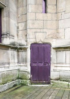 Paris Wall Decor French Door in purple Paris by Raceytay on Etsy, $15.00