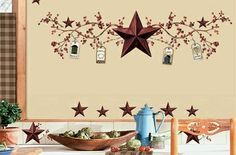 Image detail for -Wall 2 Wall Stickers - Country Stars and Berries Decorative Removable ...