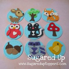 Forest Friends Fondant Toppers #fooddecoration, #food, #cooking, https://facebook.com/apps/application.php?id=106186096099420
