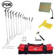 169.77$  Watch more here  - PDR Tools Hooks Push Rods Dent Removal Car Dent Repair Car Body Repair Kit Paintless Dent Repair Tap Down Tools Set