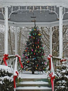 """dreamsofchristmas: """" yuletide-blessings: """" ❄ Christmas Gazebo (x) ❄ """" Christmas Blog! All Year! 365 Days! New posts every 3 minutes! """""""