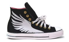 Custom Chuck Taylors with wings! Growing Pains Studios / Eric Bailey.